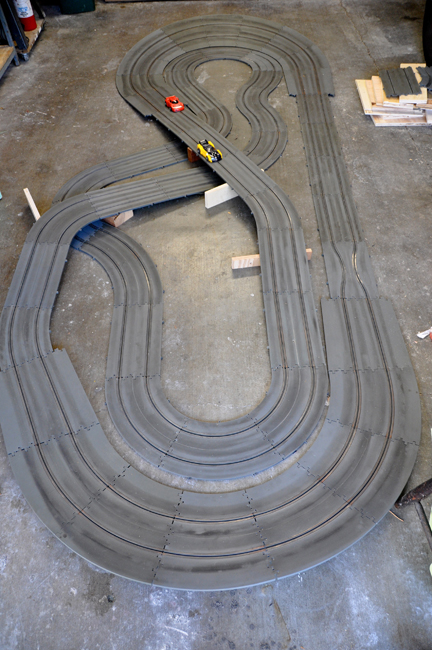 Cleaning Old Slot Car Track